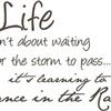 DANCING IN THE RAIN !
