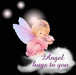 Angel hugs ecard