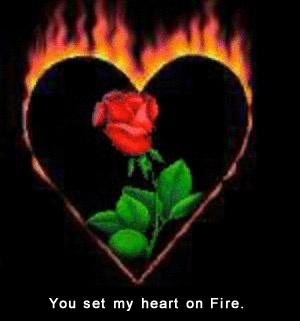 I am burning ! ecard