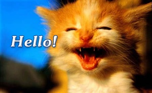 """Just dropping by to say """"Hello!"""" ecard"""