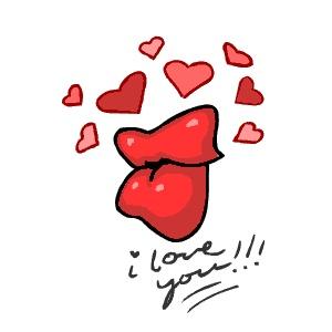 Loving lips ecard