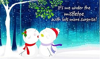Snow Man & Snow GirL ecard