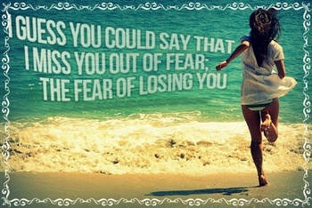 Miss You Out Of Fear! ecard