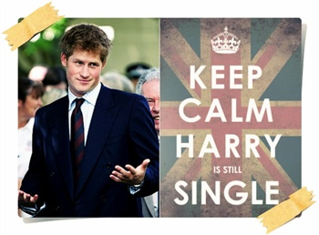 Keep Calm!!!('Harry' is still Single) lol ecard