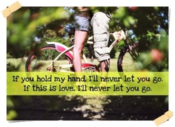 Hope that you'll never let me go ecard