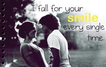 I fall for your SMILE every single time ecard