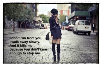 I don't run from you ecard