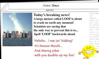 April: Humor Month ecard