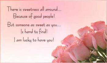 Lucky to have U ecard