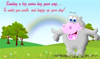 Big warm hug ecard