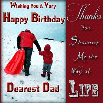 Happy Birthday Dearest Dad ECard