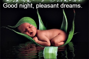 Good night pleasant dreams eCard
