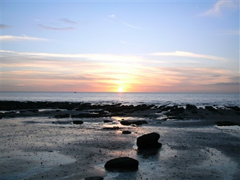 Beautiful sunset in Norfolk ecard