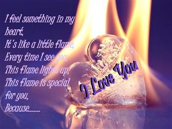 I Feel Something In My Heart.... ecard
