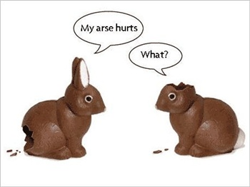 Funny easter ecard
