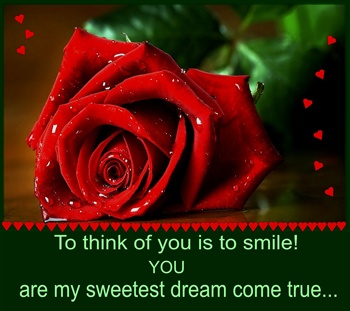 To think of you is to smile. ecard