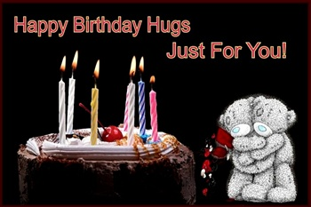 Happy Birthday Hugs Just For You ECard