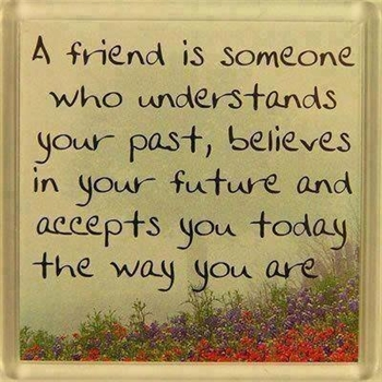 A friend is someone who understands your past ecard