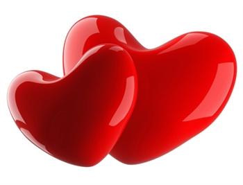 Couple Hearts. ecard