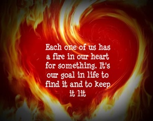 blazing flame ecard