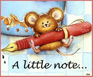 a little note ecard