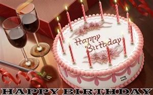 bright and happy birthday ecard