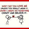 Dont Say U Love Me UNLESS eCard