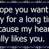 My Heart Really Likes You