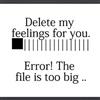 Deleting my feeling 4u eCard