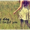 One day I will forget you