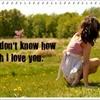 U dunno how much I love U