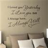 I will love