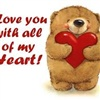 a teddy bear with love eCard