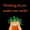 Thinking of you makes me smile eCard