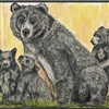 Bear Family Watercolor eCard